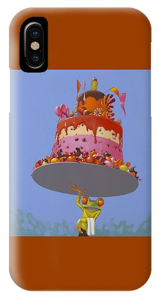 Amphibians iPhone Case - Cake by Jasper Oostland