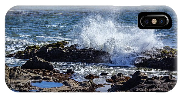 Wave Crashing On California Coast IPhone Case