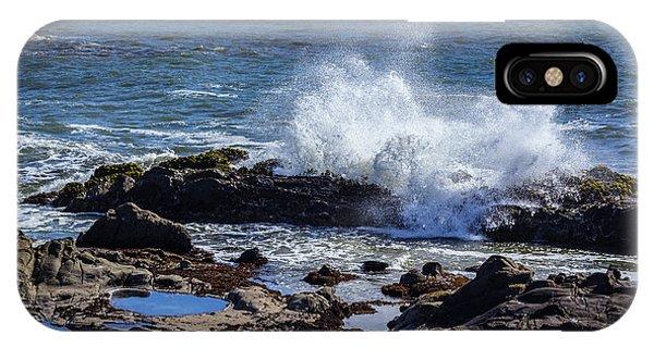 Wave Crashing On California Coast IPhone Case