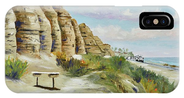 IPhone Case featuring the painting Calafia Beach Trail by Mary Scott