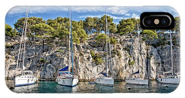 French Riviera iPhone Case - Calanque And Boats by Delphimages Photo Creations