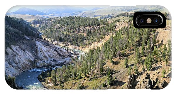 Calcite Springs Along The Bank Of The Yellowstone River IPhone Case