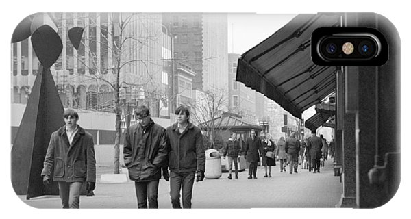 Calder Sculpture On Nicollet Mal IPhone Case