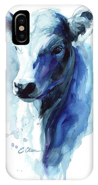Calf In Blue IPhone Case