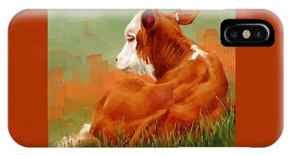 Calf Reclining IPhone Case