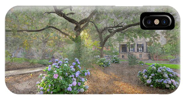 Park Bench iPhone Case - Calhoun Square  by Larry Braun