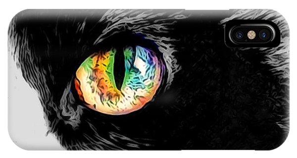 Calico Cat With A Splash IPhone Case