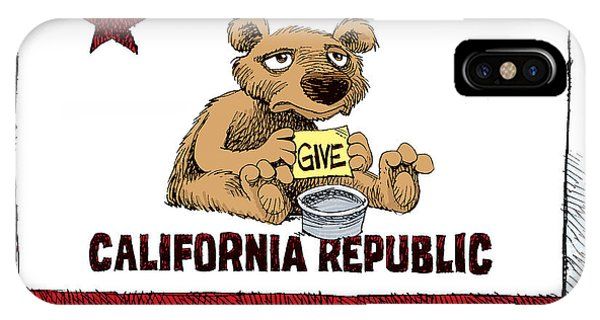 California Budget Begging IPhone Case