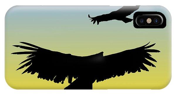 California Condors In Flight Silhouette At Sunrise IPhone Case