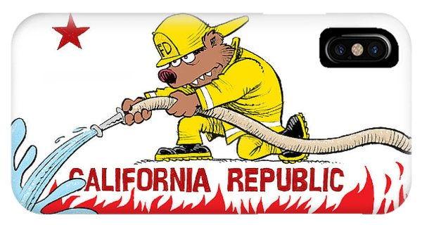 California Firefighter Flag IPhone Case