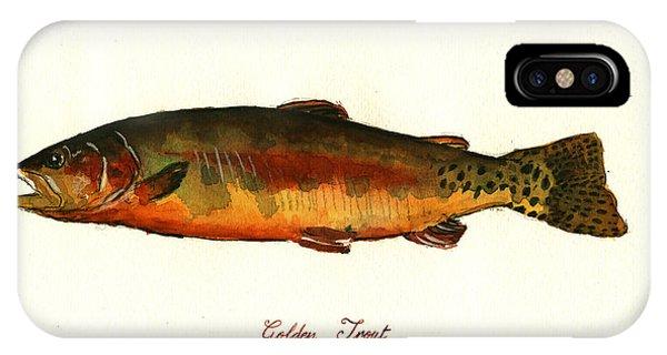 Trout iPhone Case - California Golden Trout Fish by Juan  Bosco