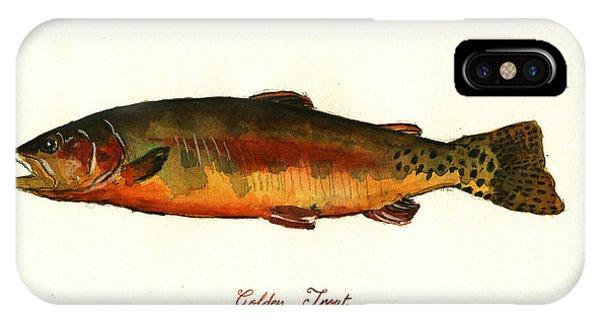 California Golden Trout Fish IPhone Case