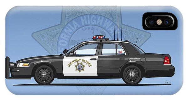 California Highway Patrol Ford Crown Victoria Police Interceptor IPhone Case