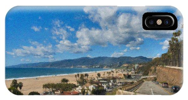 California Incline Palisades Park Ca IPhone Case