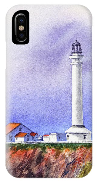 Lighthouse Wall Decor iPhone Case - California Lighthouse Point Arena by Irina Sztukowski