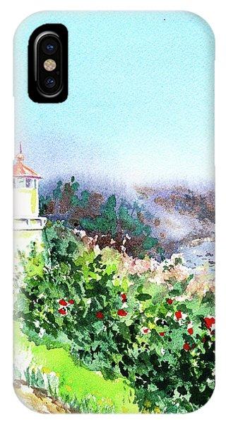 Lighthouse Wall Decor iPhone Case - California Lighthouse Trinidad Pacific Ocean by Irina Sztukowski