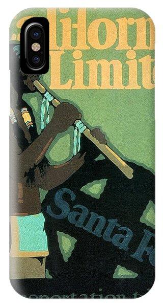 Advertising iPhone Case - California Limited - Santa Fe - Retro Travel Poster - Vintage Poster by Studio Grafiikka