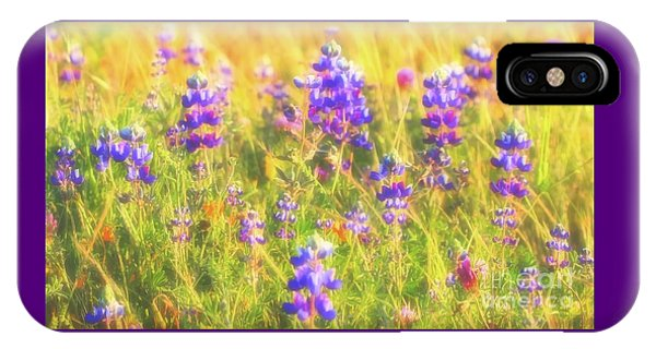 California Lupines Redux IPhone Case