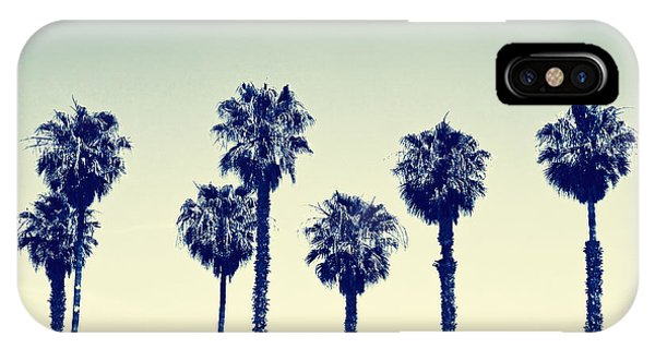 Tree iPhone Case - California Palm Trees by Anna Floridia