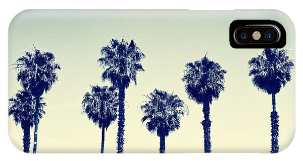 Palm Tree iPhone X Case - California Palm Trees by Anna Floridia