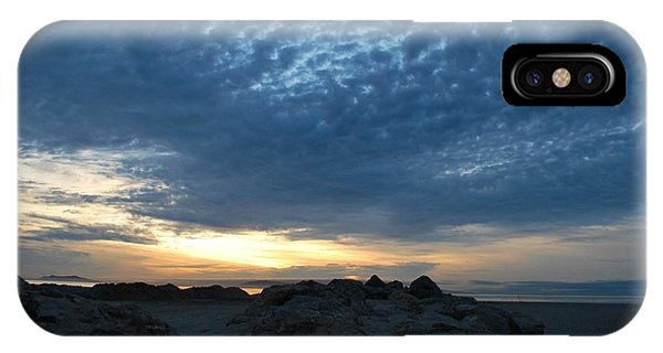 California Rocky Beach Sunset  IPhone Case