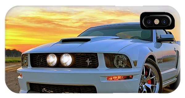 IPhone Case featuring the photograph California Special Sunrise - Mustang - American Muscle Car by Jason Politte