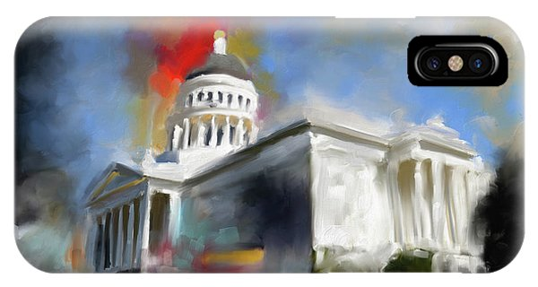 Capitol iPhone Case - California State Capitol Building 556 1 by Mawra Tahreem