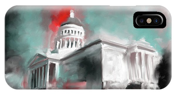 Capitol iPhone Case - California State Capitol Building 556 2 by Mawra Tahreem