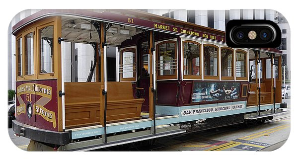 California Street Cable Car IPhone Case
