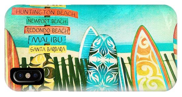 California Surfboards IPhone Case