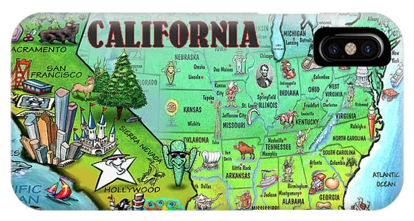 California Usa IPhone Case