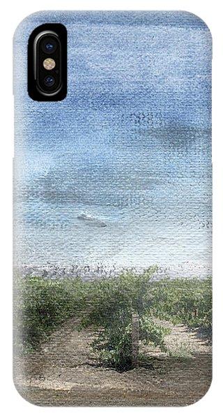 Sky iPhone Case - California Vineyard- Art By Linda Woods by Linda Woods