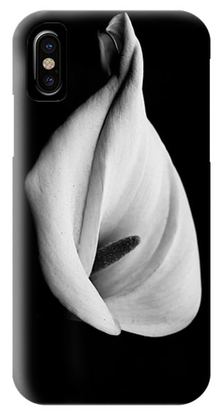 Calla Challenge In Black And White IPhone Case