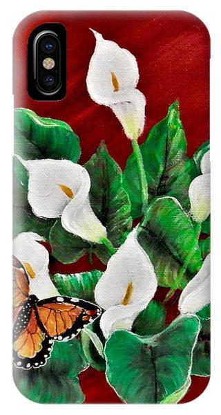 Calla Lilies. IPhone Case