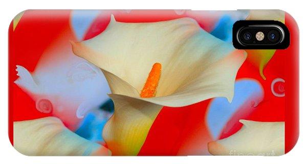 Splashy Calla Lilies IPhone Case