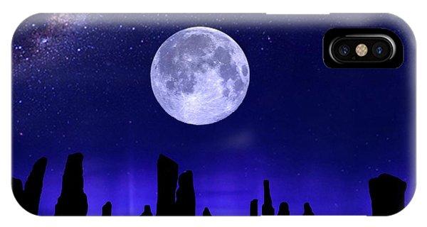Callanish Stones Under The Supermoon.  IPhone Case