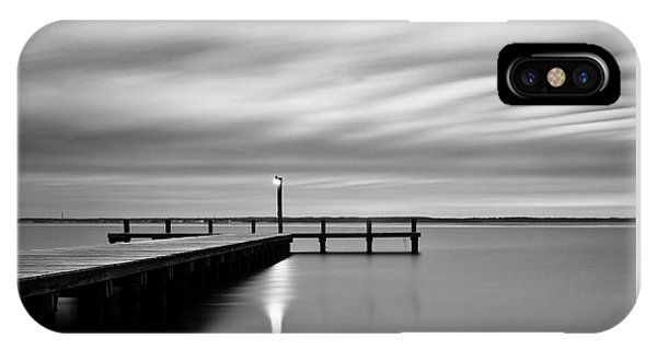 Calm Barnegat Bay New Jersey Black And White IPhone Case