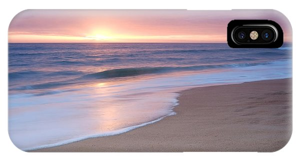 Calm Beach Waves During Sunset IPhone Case