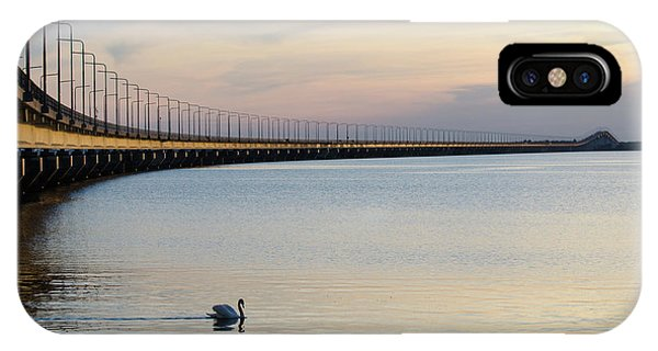 Calm Evening By The Bridge IPhone Case