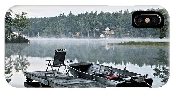 Calm Morning On Little Sebago Lake IPhone Case