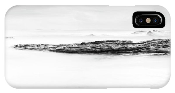 IPhone Case featuring the photograph Calm Ocean Landscape Black And White by Tim Hester
