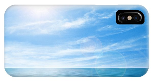 Sun Set iPhone Case - Calm Seascape by Carlos Caetano