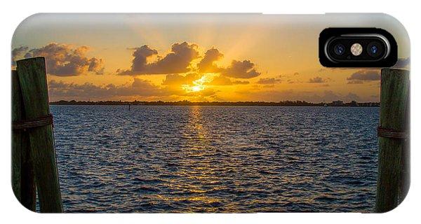 Centennial Bridge iPhone Case - Caloosahatchee Sunset By Darrell Hutto by J Darrell Hutto