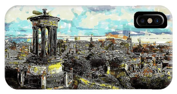 Calton Hill Edinburgh IPhone Case