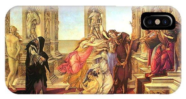 Botticelli iPhone Case - Calumny Of Apelles  by Sandro Botticelli
