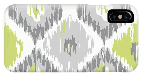 Pattern iPhone Case - Calyx Ikat Pattern by Mindy Sommers