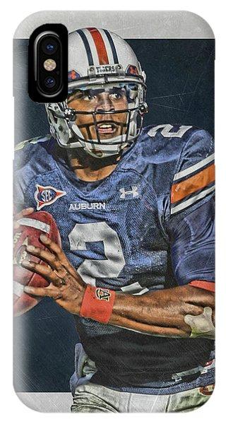 Cam Newton Auburn Tigers Art IPhone Case