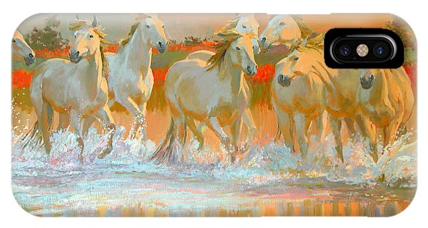 Horse iPhone X Case - Camargue  by William Ireland