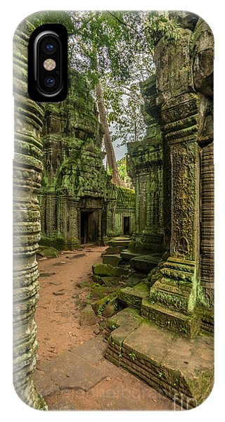 Cambodia iPhone Case - Cambodia Ta Phrom Ruins by Mike Reid