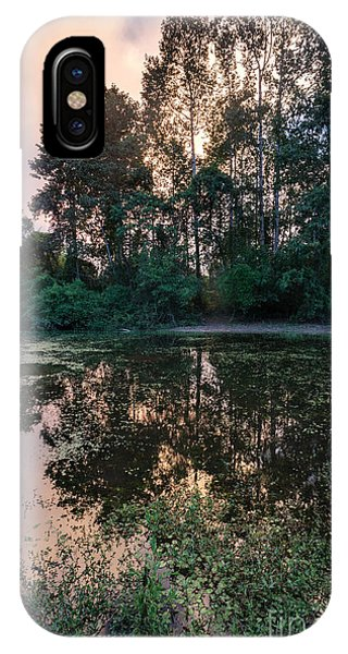 Cambodia iPhone Case - Cambodian Backwater Cloudscape by Mike Reid